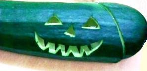 Gardening activities for kids - carved zucchini