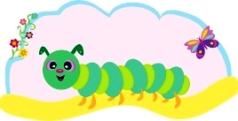 Kids gardening - caterpillar smiling