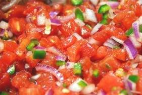 Easy vegetable dip recipes - tomato salsa