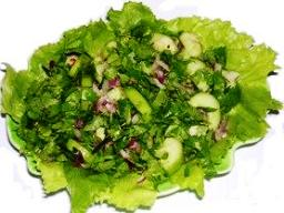 Unusual salads - Cucumber salad