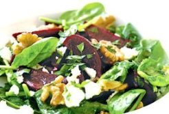 Easy salad recipes - nutty goats salad