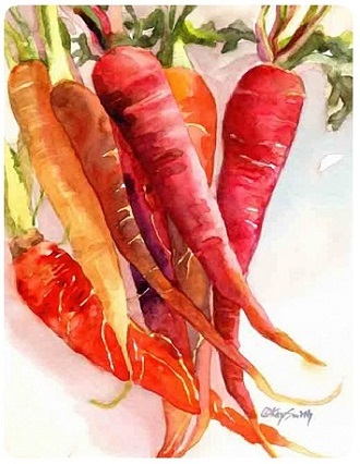 painting of carrots