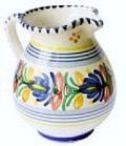 China jug container for indoor, windowsill or balcony herbs