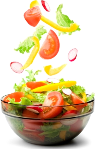Nutritious salad in bowl