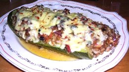 Easy vegetable recipes - stuffed zucchini