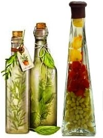 herbal infused vinegar bottles