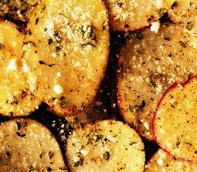 bbq vegetables - potatoes with herbs and parmesan