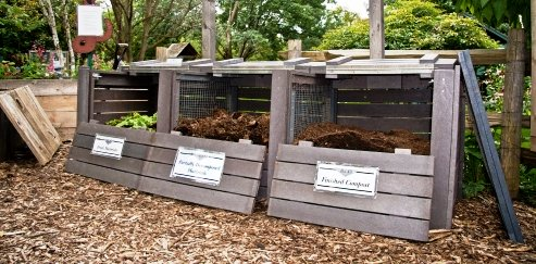 compost bin 3 in row