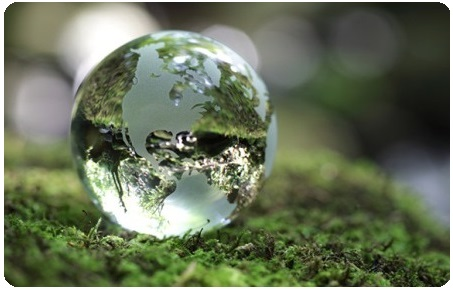 Green earth bubble