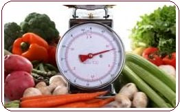 Organic garden fertilizer produces big vegetables on scales