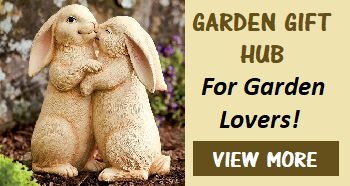 rabbit garden statues hugging