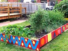 Raised bed garden wise gardens community New Orleans