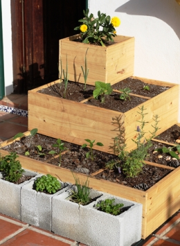 sq ft garden boxes in tiers