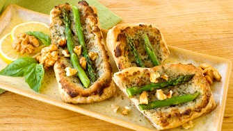 Asparagus walnut puffs apetizers