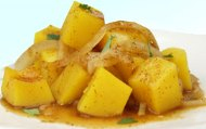 Butternut squash with chilli sauce