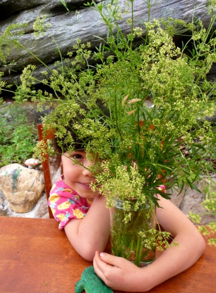 Jessie with parsley flowers
