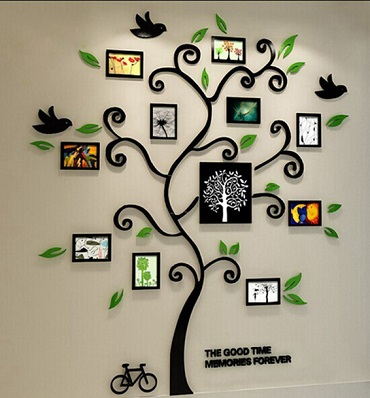 wall decal tree photo frames