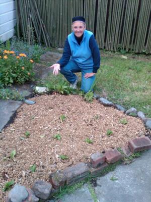Using wood chips on our raised garden bed