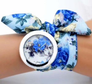 Watch-blue-floral