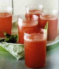 Watermelon and basil drink
